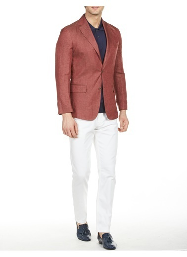 Bisse Mono Yaka Regular Fit Platinum Ceket Kırmızı